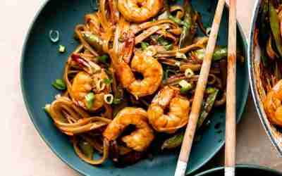 Better Than Takeout Teriyaki Shrimp & Noodles