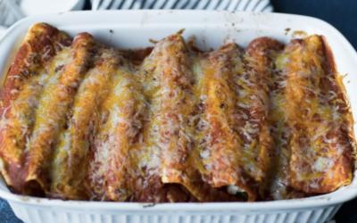 Beef and Cream Cheese Enchiladas