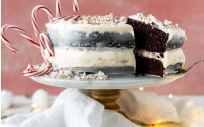Chocolate Candy Cane Crunch Cake