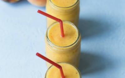 Fresh Peach Smoothies