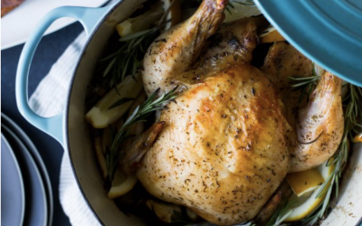 Lemon Herb Butter Roasted Chicken