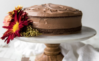 Pumpkin Cake with Milk Chocolate Cream Cheese Frosting