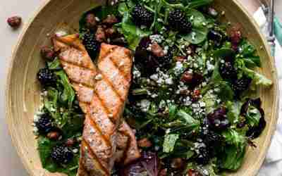 Black & Bleu Salmon Salad