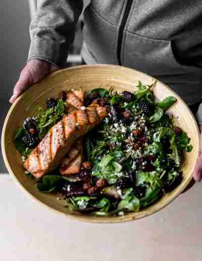 Black & Bleu Salmon Salad-8