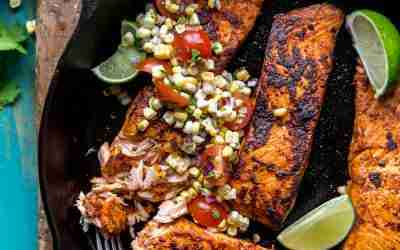 Chipotle Salmon with Fresh Corn Salsa
