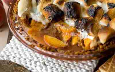 Bonfire Peach Pie