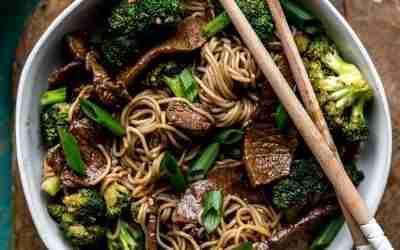 Teriyaki Beef & Broccoli Noodle Bowls