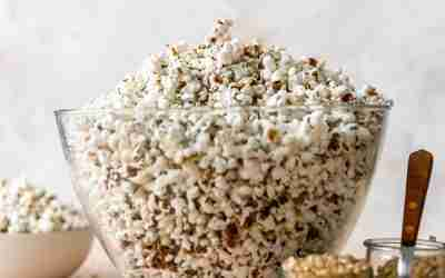Garlic Herb Butter Popcorn