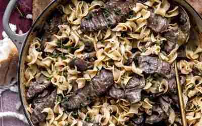 Hungarian Mushroom Beef Stroganoff