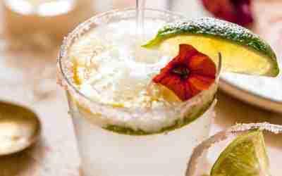 Sparkling Lemon Lime Margaritas