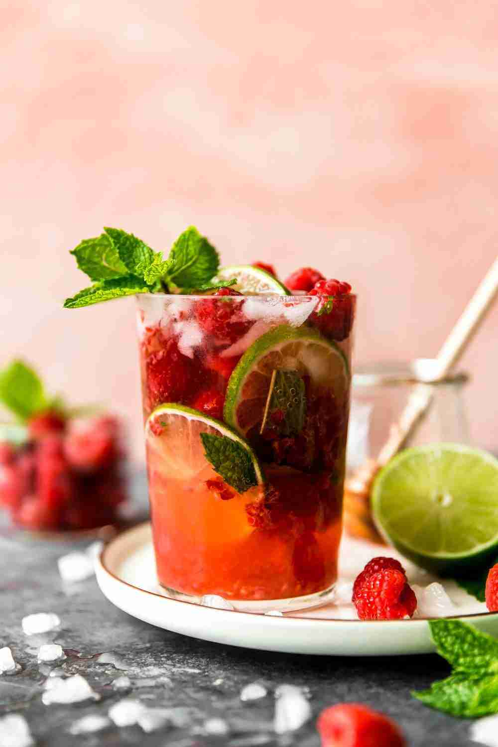 Raspberry Mint Mojitos