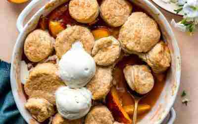 Biscuit Peach Cobbler