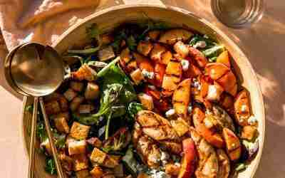 Grilled Peach & Chicken Salad