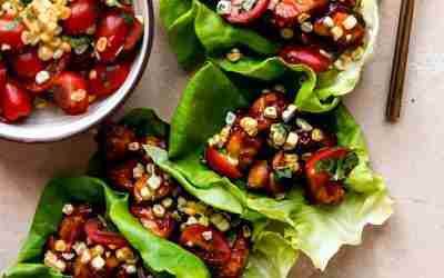BBQ Chicken Lettuce Wraps