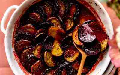 Brown Sugar Herb Butter Roasted Beets