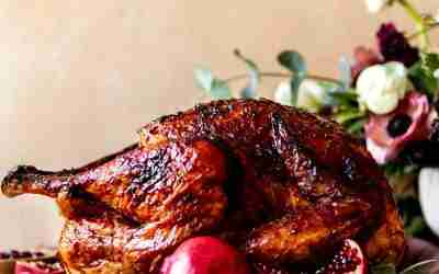Cranberry Pomegranate Glazed Turkey