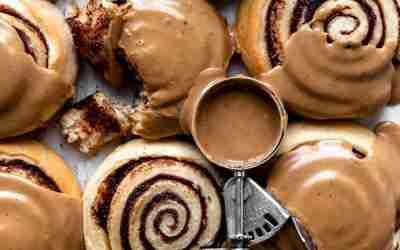 Espresso Glazed Cinnamon Rolls