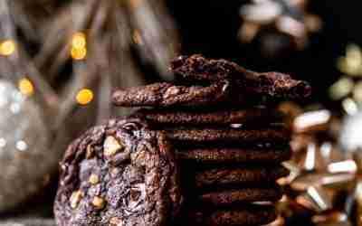 Chocolate Coffee Toffee Cookies
