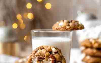 Gingerbread Rocky Road Cookies