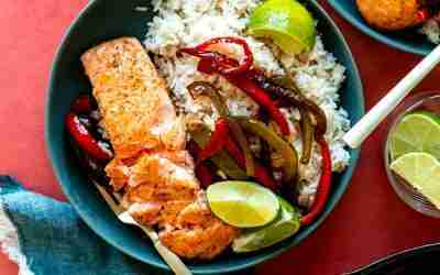 Honey Cajun Salmon Bowls
