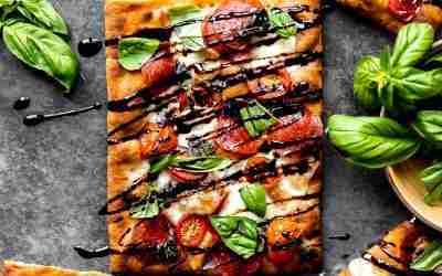 Pepperoni Caprese Flatbread